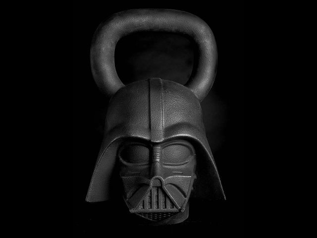 Star Wars Kettlebells - Darth Vader Front